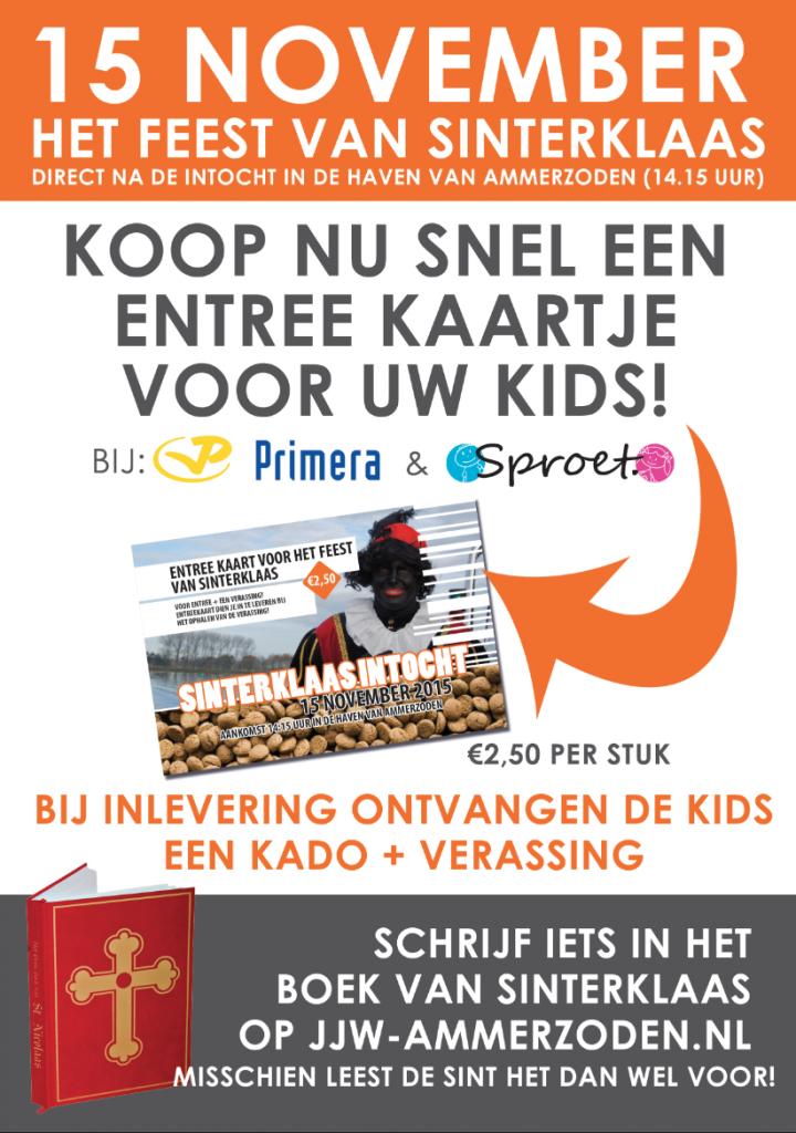Verkoop entreekaartjes feets van Sinterklaas gestart - Jeugd & Jongerenwerk Ammerzoden